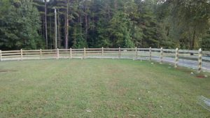 4 Board Horse fence with Wire