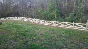 5 Board Horse Fence with Wire and Post Tops